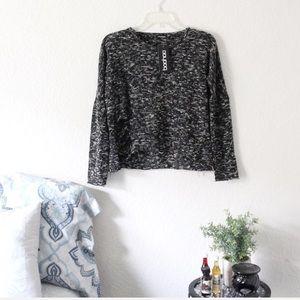 BooHoo | Salt & Pepper knit destroyed Sweater